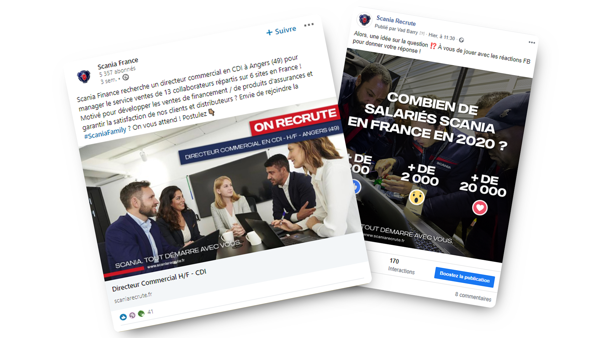 Posts Facebook Scania Recrute