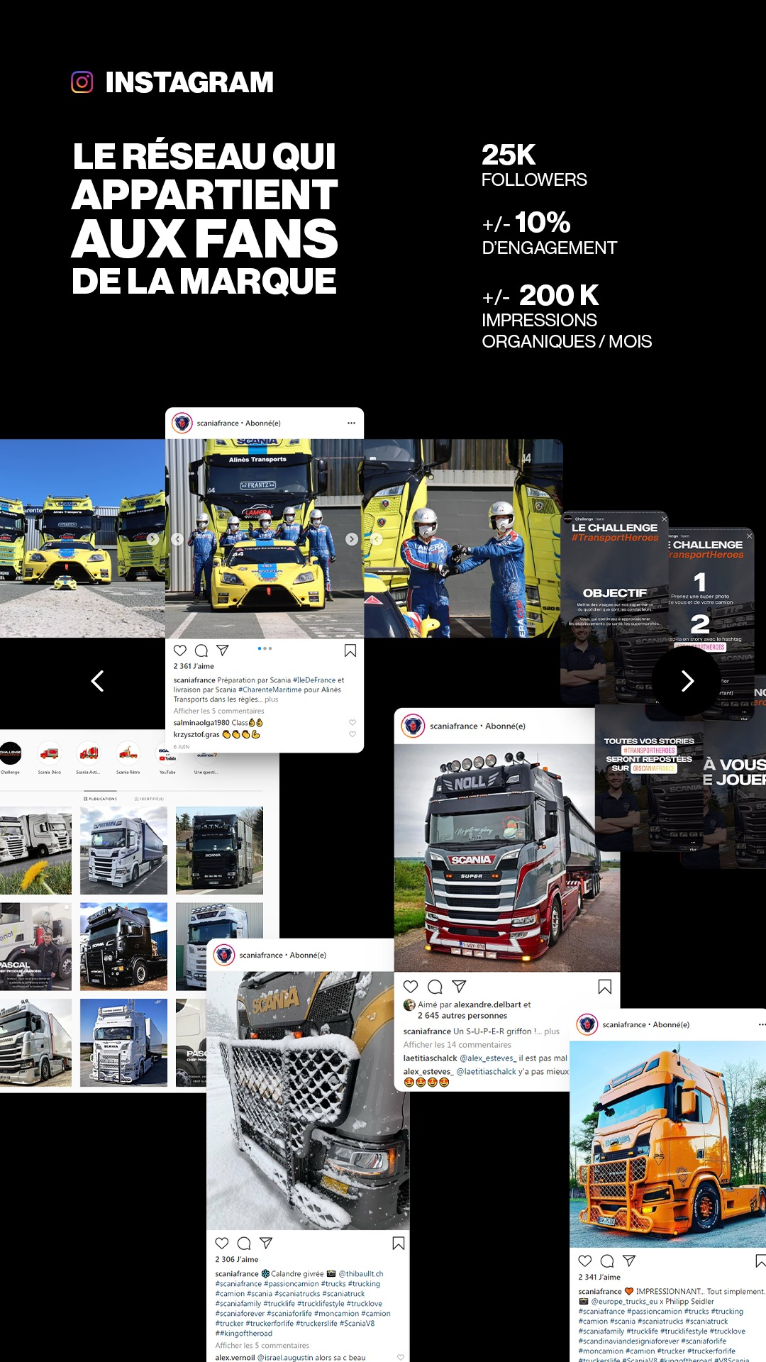 Social Media Management Instagram Scania France