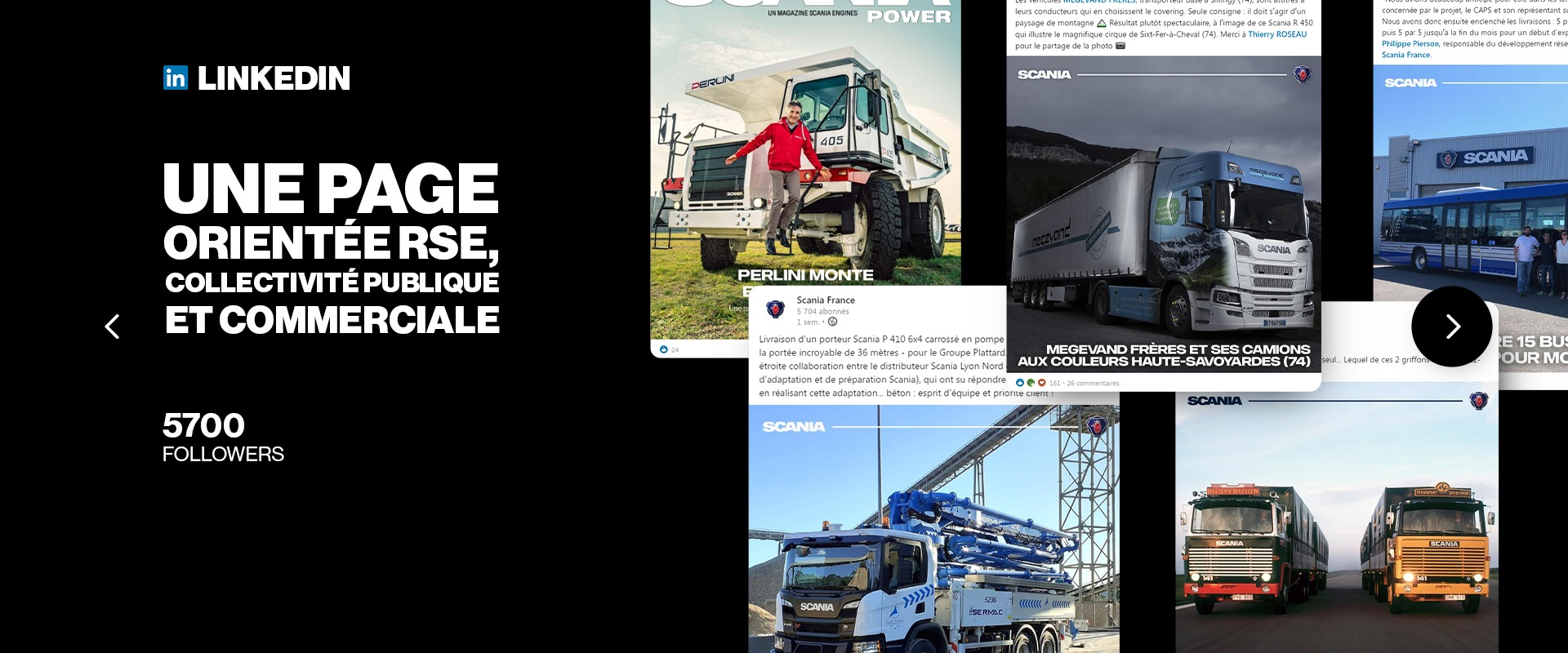 Social Media Management LinkedIn Scania France