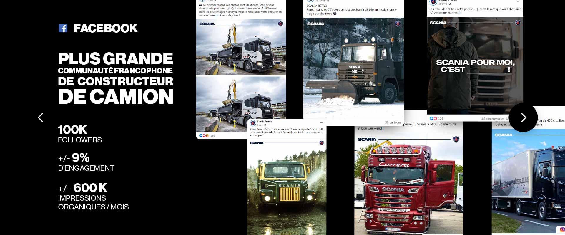 Social Media Management Facebook Scania France