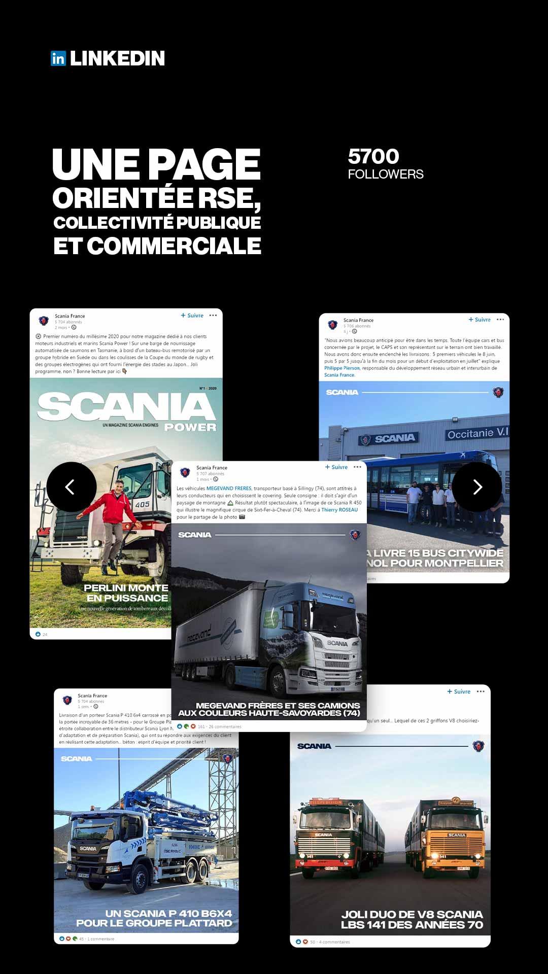 Social Media Management LinkedIn Scania France