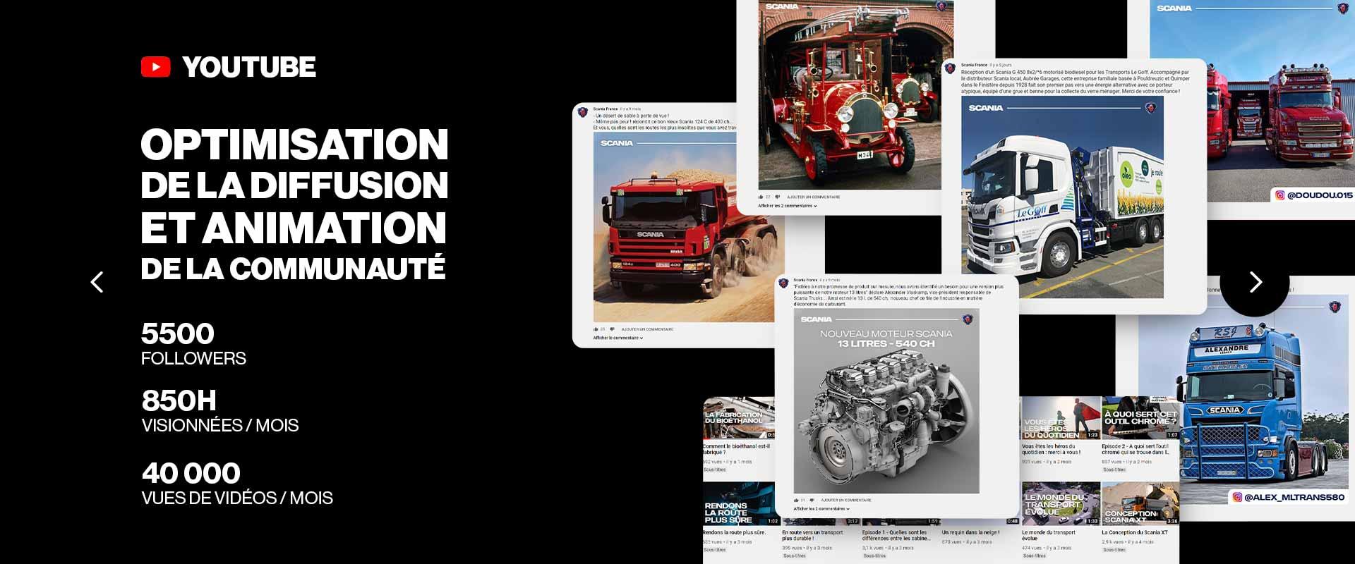 Social Media Management YouTube Scania France